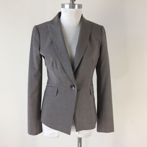 Ann Taylor S 4 Gray Taupe Wool blend Blazer